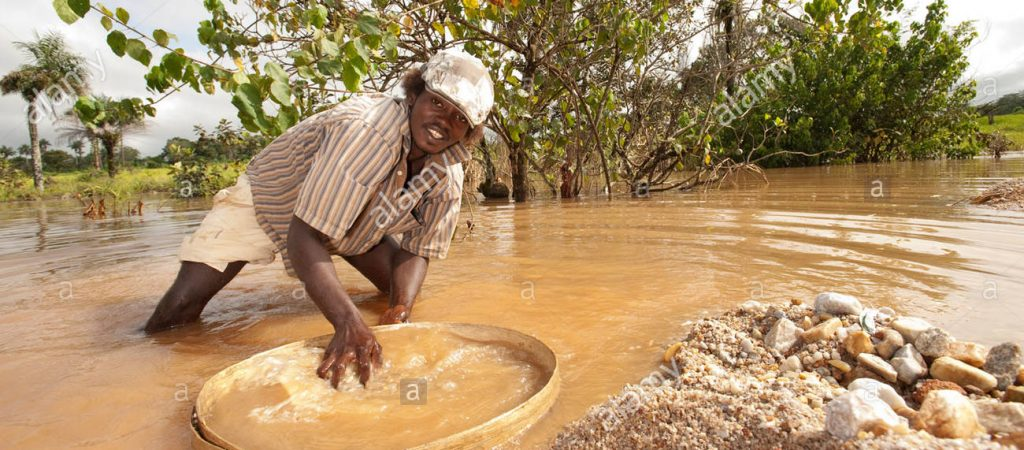 Panning for Diamond in Sierra Leone